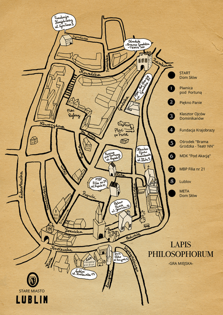 Lokalizacja gry miejskiej Lapis Philosophorum